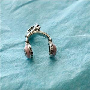 Pandora Jewelry - Pandora Pink Headphones Dangle Charm